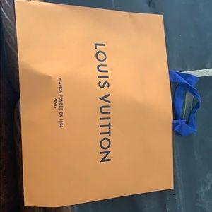 Large authentic Louis Vuitton shopping bag
